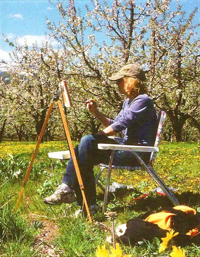 Jan Cook Mack Painting Stemilt Cherries