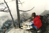 Jan Cook Mack Painting Snow And Nada Lakes From Top Of Wedge Mt.