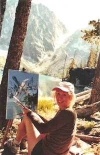 Jan Cook Mack Painting On Site At Colchuck