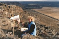 Jan Cook Mack Painting At Moses Coulee